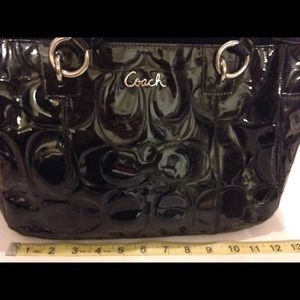 Coach f17728 embossed gloss patent leather Ashley
